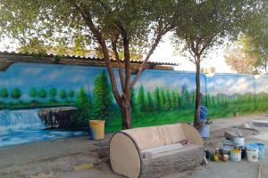 نقاشی دیواری و تبلیغات محیطی
